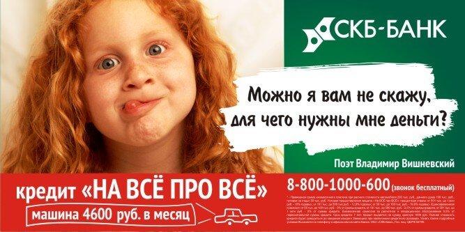 программы кредитования в СКБ банке
