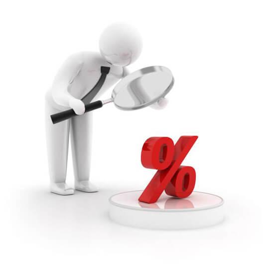 средняя процентная ставка по кредиту в россии