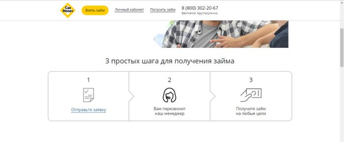 МФК Кармани (Carmoney.ru) - 3 простых шага для получения займа