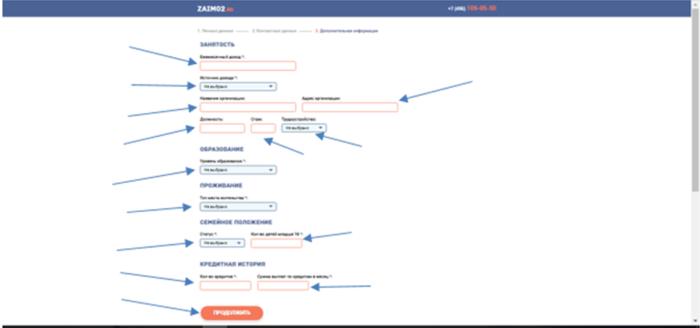 МКК Бирюза (zaim02.ru) — занятость, образование, проживание, семейное положение, кредитная история