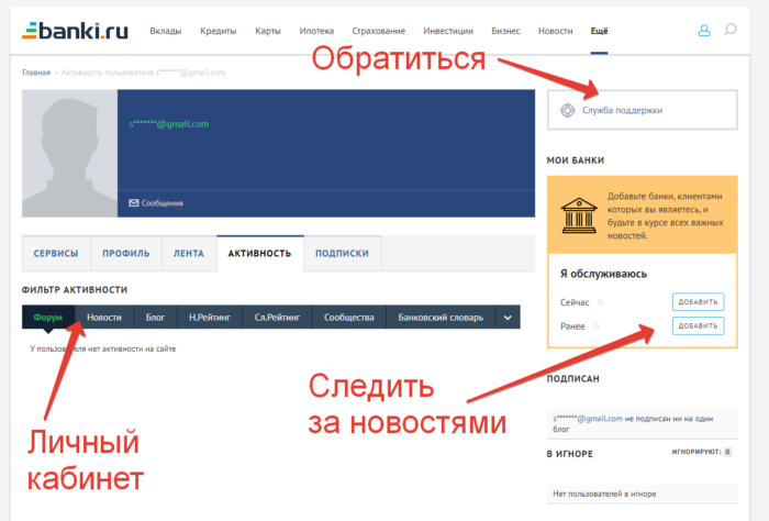 banki ru личный кабинет клиента